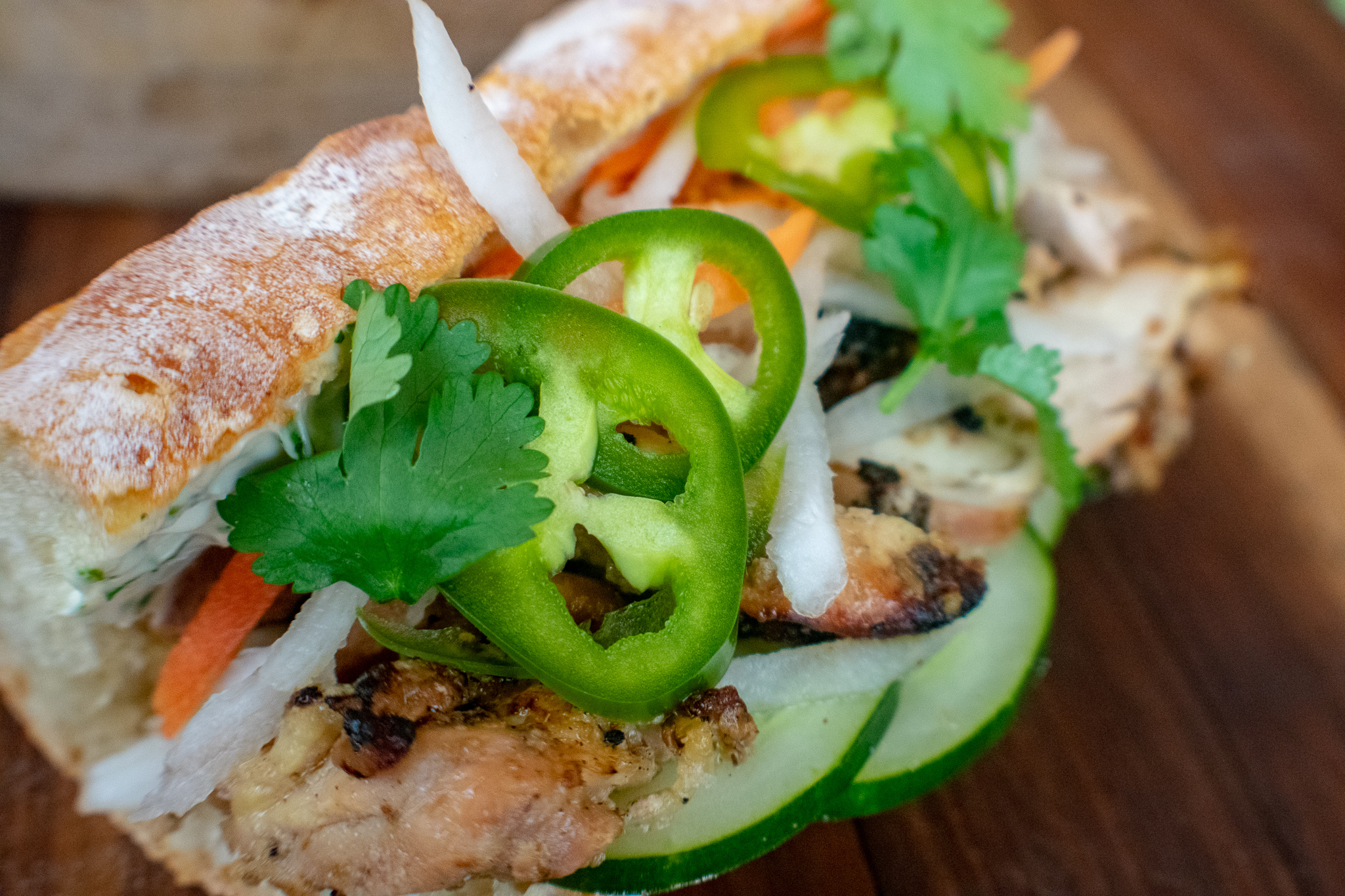 Chicken Bánh mì Sandwich