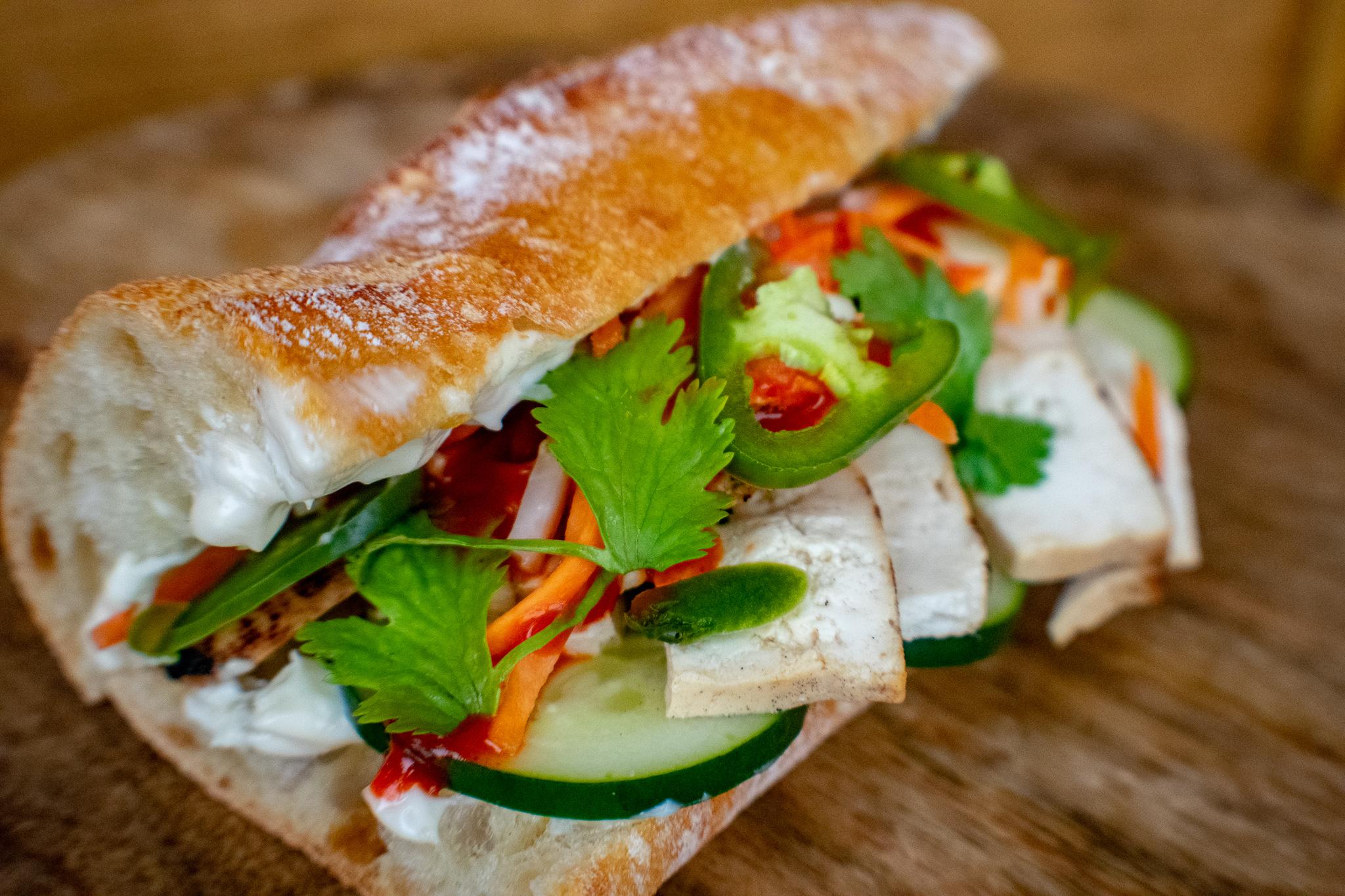 Tofu Bánh mì Sandwich