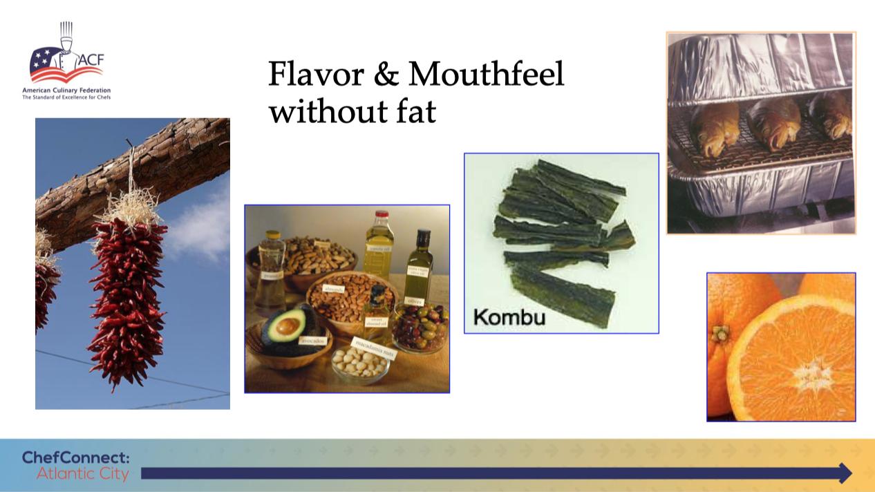 Techniques to drive flavor, but limit sodium & fat