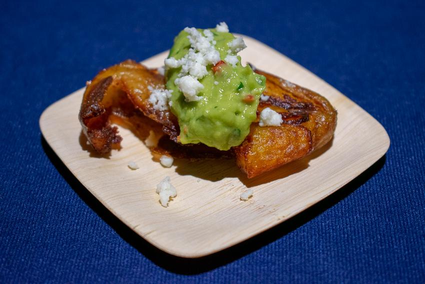Potato Tostone with Guacamole & Coja