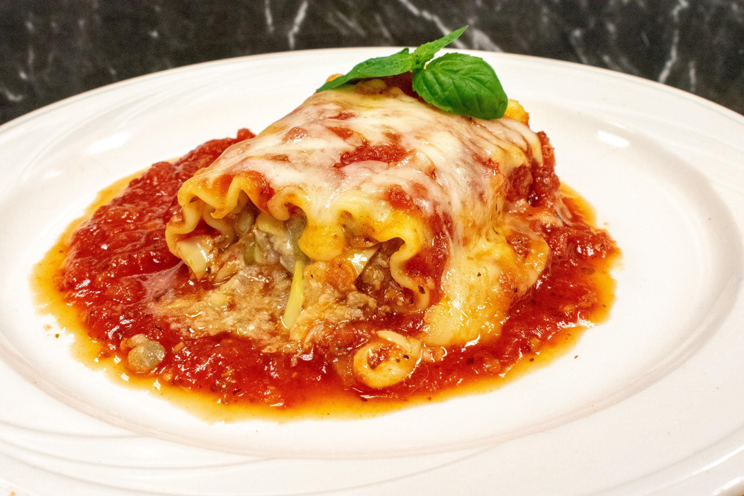 Blended Turkey & Lentil Lasagna Rollup