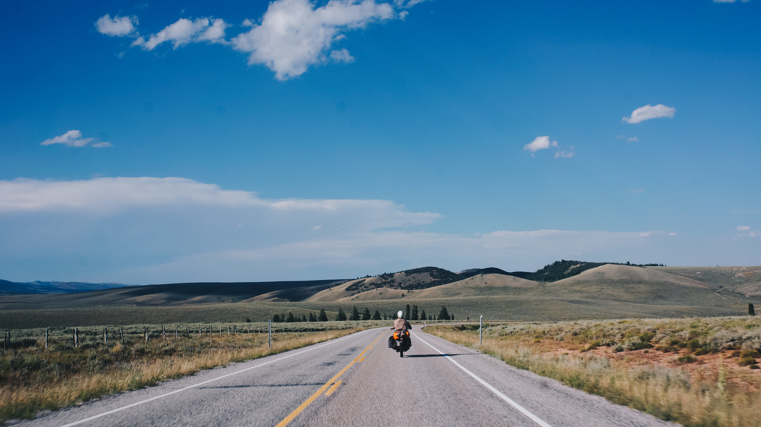 On the road towards Bear Lake, ID.