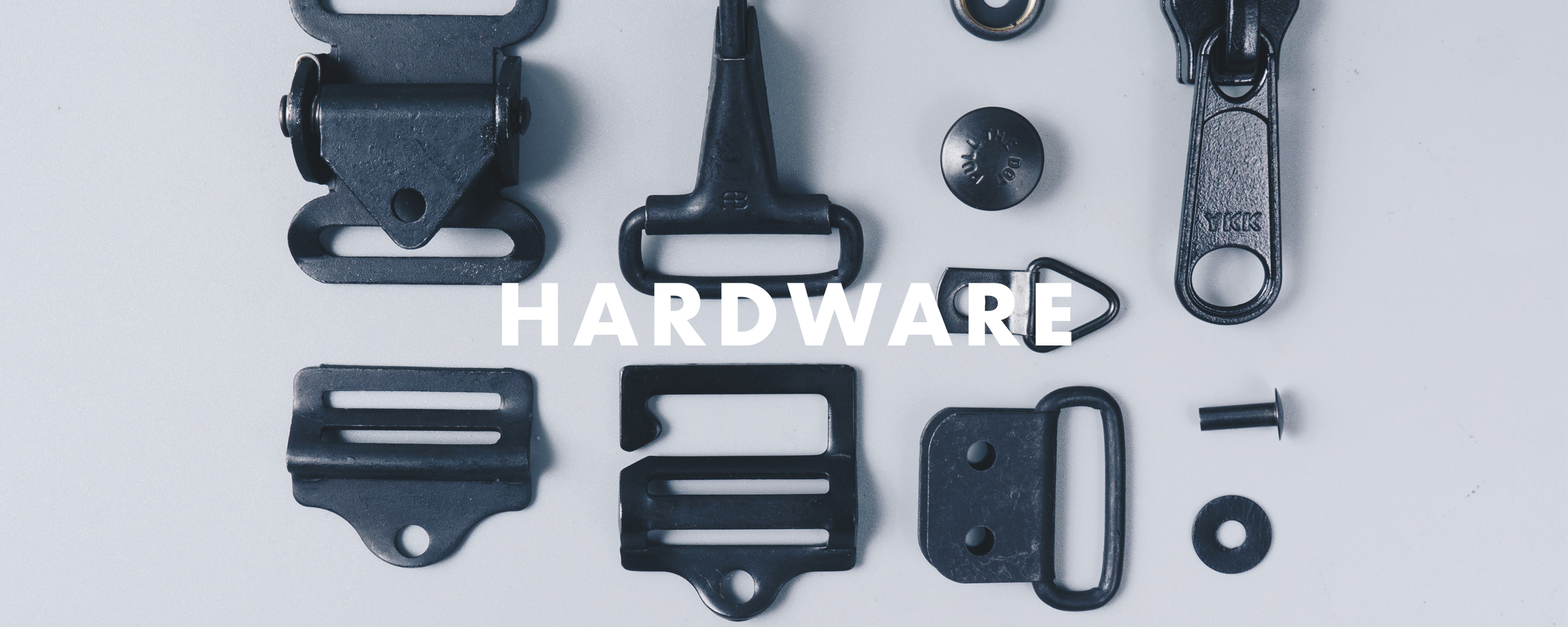 None of that plastic crap. - Quality hardware is the thing that marries form and function in any reliable product. We've tirelessly tested many different types of snaps, rivets, zippers, and buckles in order to find the hardware that'll withstand a lifetime of constant use and abuse. Most of the hardware bits we've sourced are made from corrosion resistant metals and are military-spec certified. This ensures functional reliability throughout the lifetime of the product and overall, is much more durable than fasteners made from plastic.