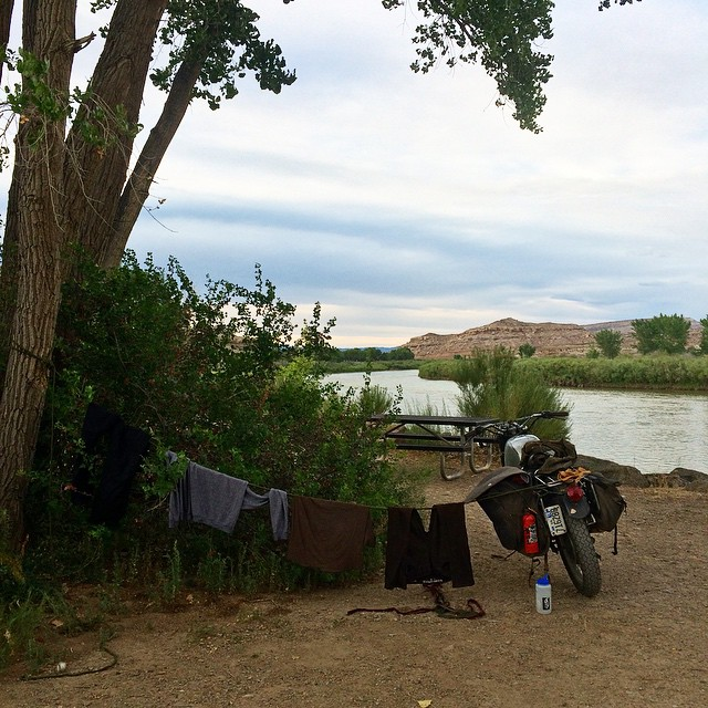 Washed our clothes in the Arkansas river near Grand Junction. Caught a catfish with a tent pole and some fishing line that night, definitely a highlight from the trip.