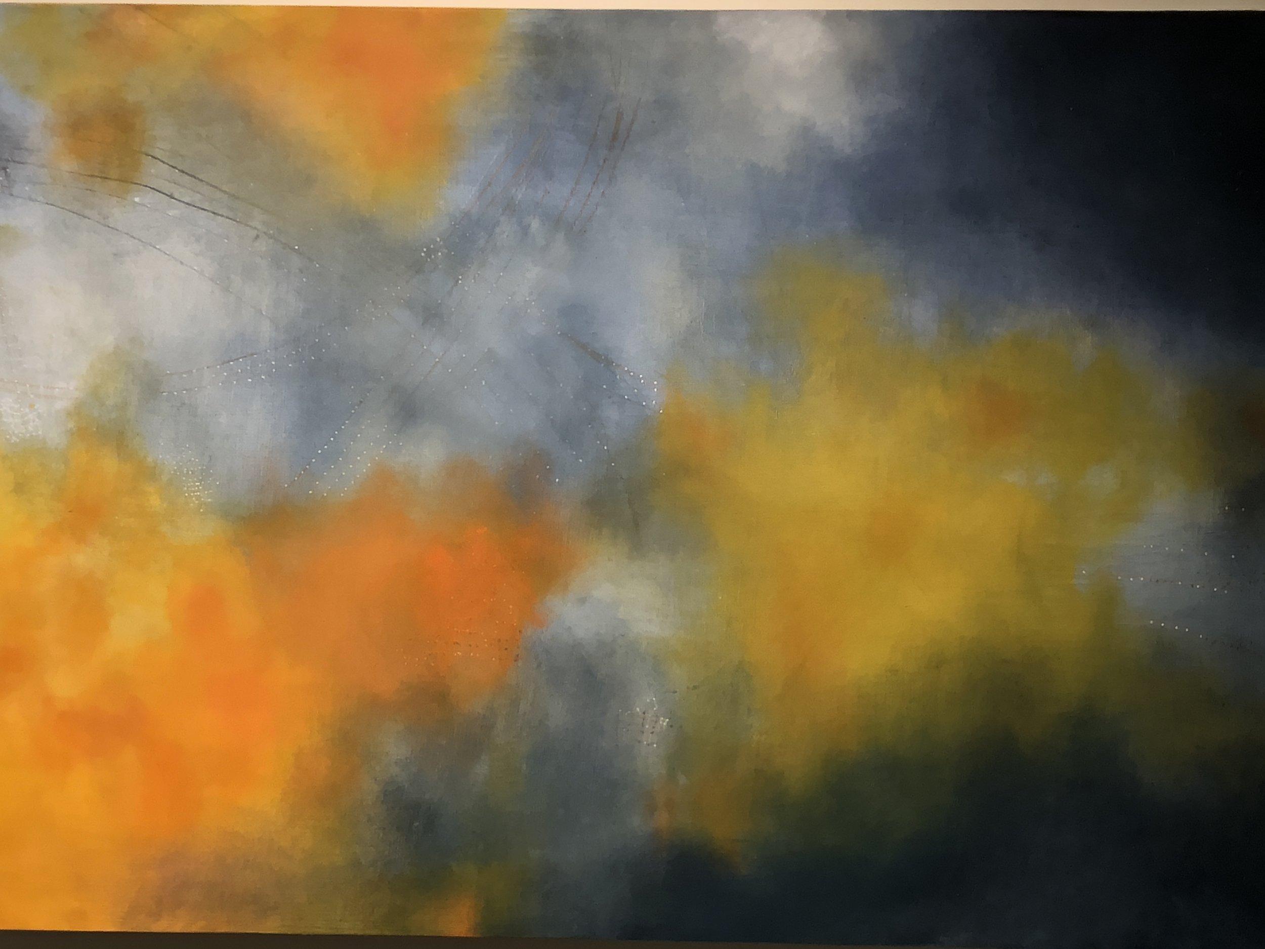 "Constellation Farm.  oil on birch panel 30"" x 40"" 2018"