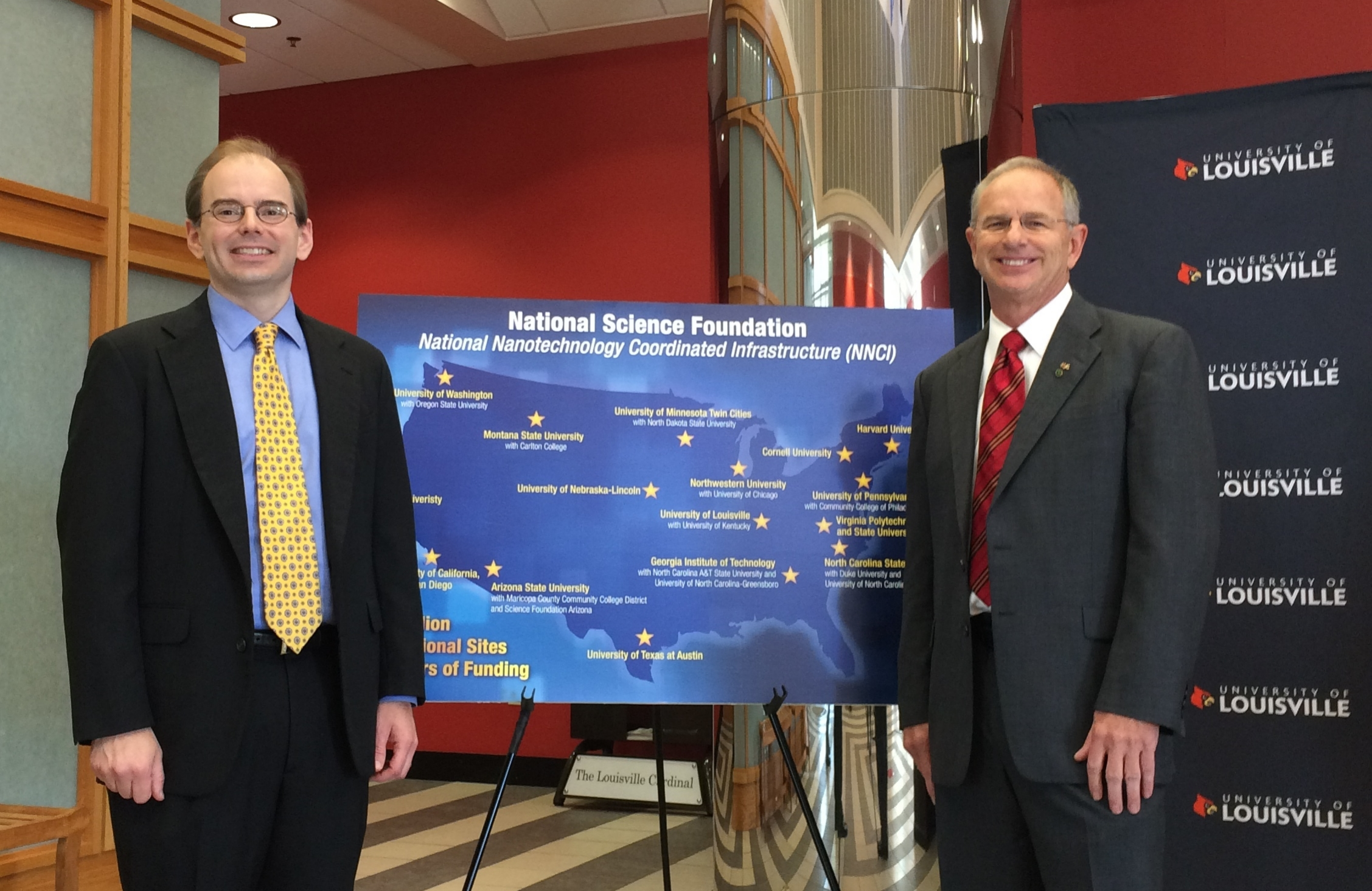 KY MMNIN PI Prof. Kevin Walsh (UofL) along with Co-PI Prof. Todd Hastings (UK)