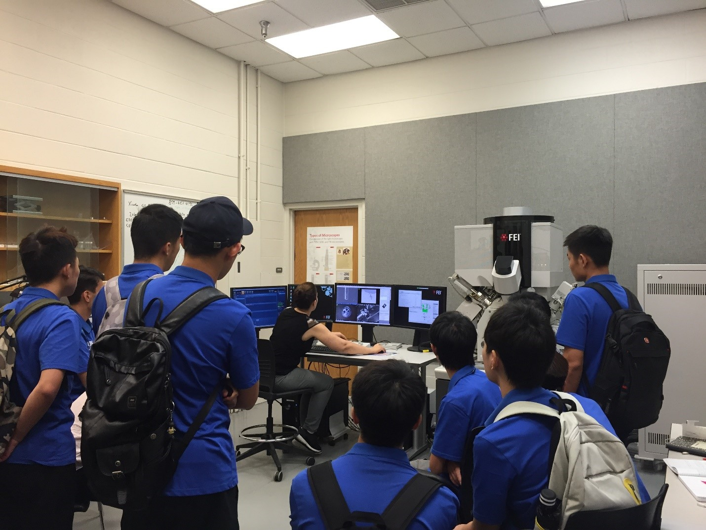 International Visitors - Summer Mining Institute with the Chinese University of Mining and Technology – demonstrations of cleanroom microfabrication processes and electron microscopy. Summer 2017