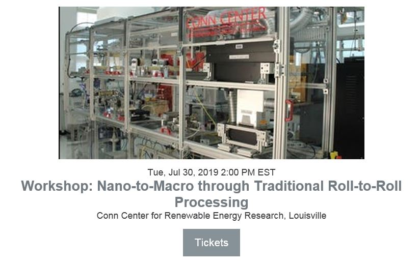 Roll-to-roll manufacturing based on traditional printing processes has been an established technology for over a century. Integrating nanomaterials into the inks extends these manufacturing techniques to more functional devices. This workshop will introduce the uses of nanomaterials into roll-to-roll processes and discuss the engineering of the inks as well as post-deposition processes towards wide area high speed manufacturing. Consideration of costs, nanomaterials production, existing deposition techniques, post-processing and handling will be discussed.