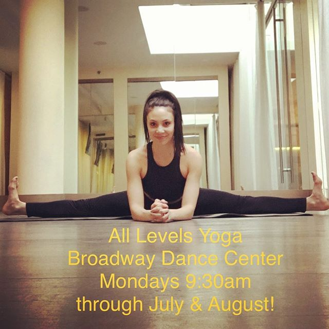 Hi friends! So excited to be teaching yoga @bdcnyc this summer! Get your flow on with me Mondays 9:30am starting July 1! Hope to see you on the mat! 😘🙏🏼