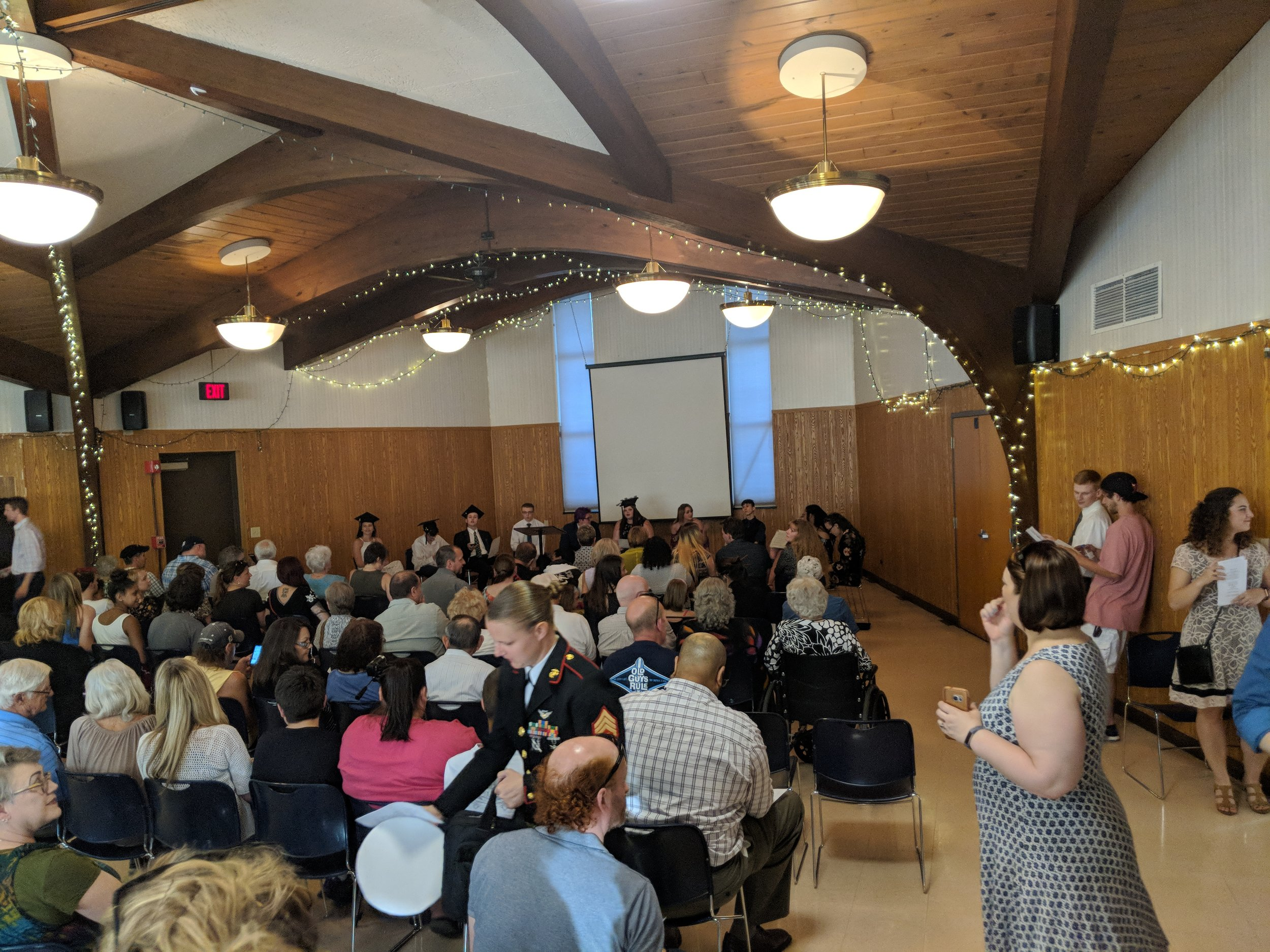 Full House at the Monona Community Center for the MG21 Graduation