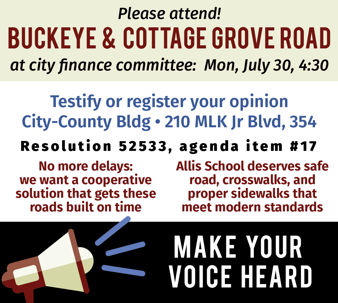 Make your voice heard about Cottage Grove & Buckeye roads