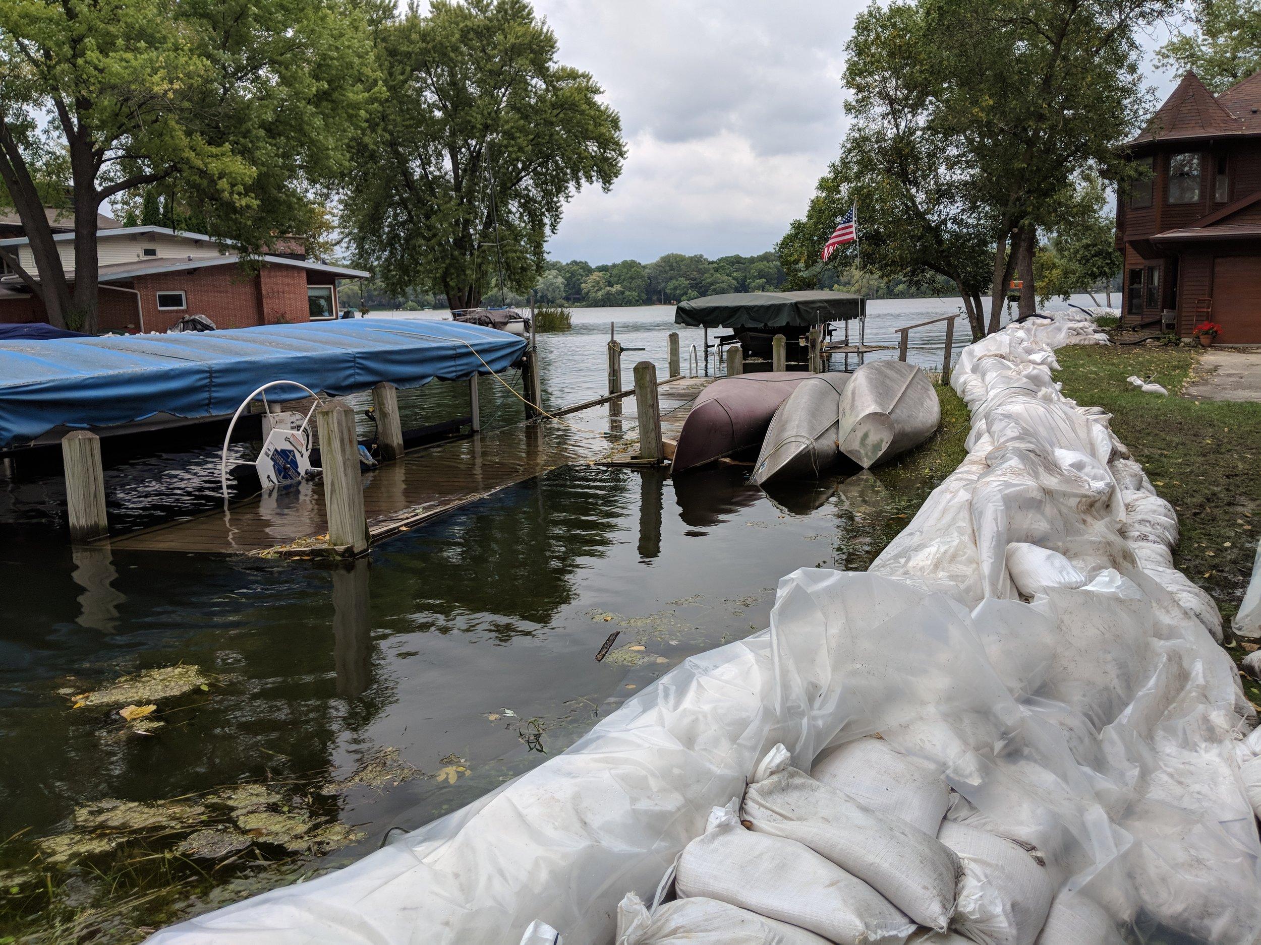 2018 Flooding on lake monona