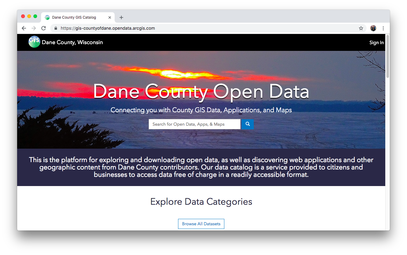 DANE COUNTY OPEN DATA