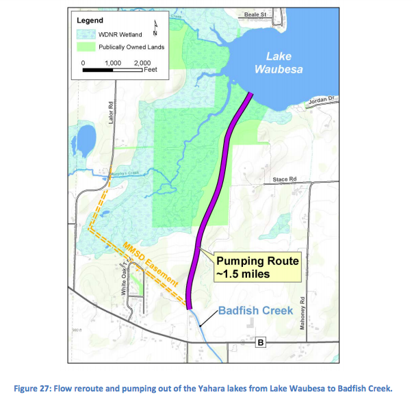 proposed pipe through waubesa wetland