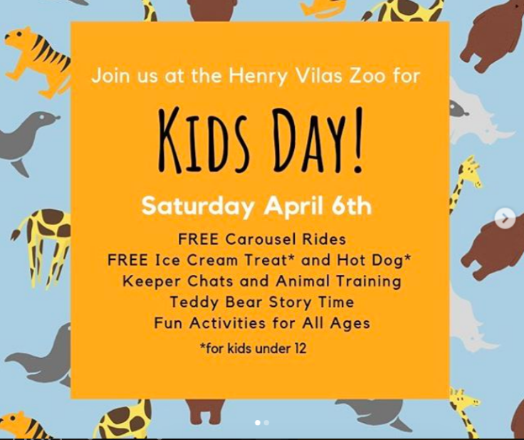 Kids day at the zoo, April 6