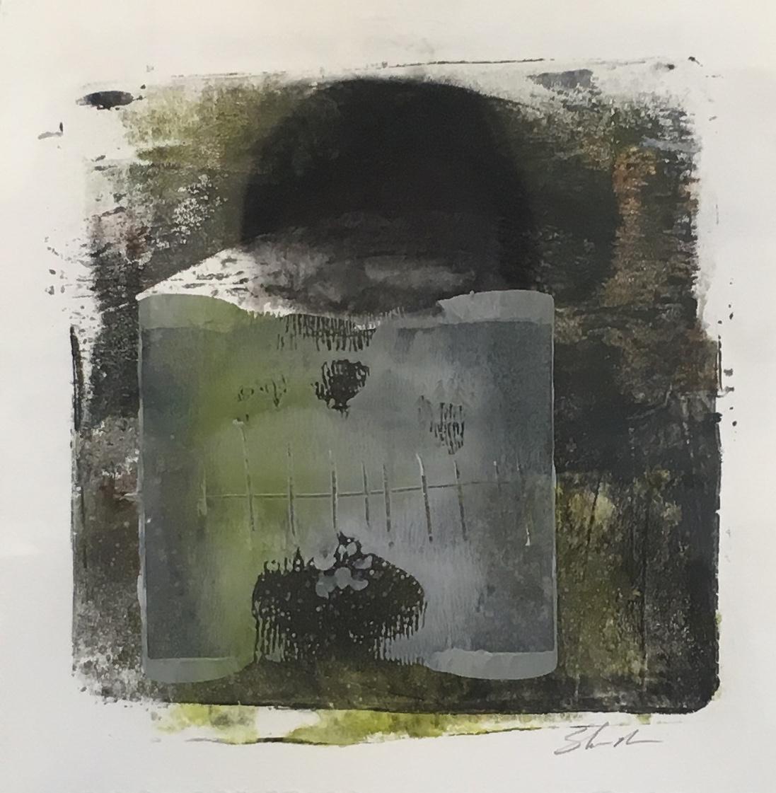 Mono Print  Acrylic on Paper  $225  Framed