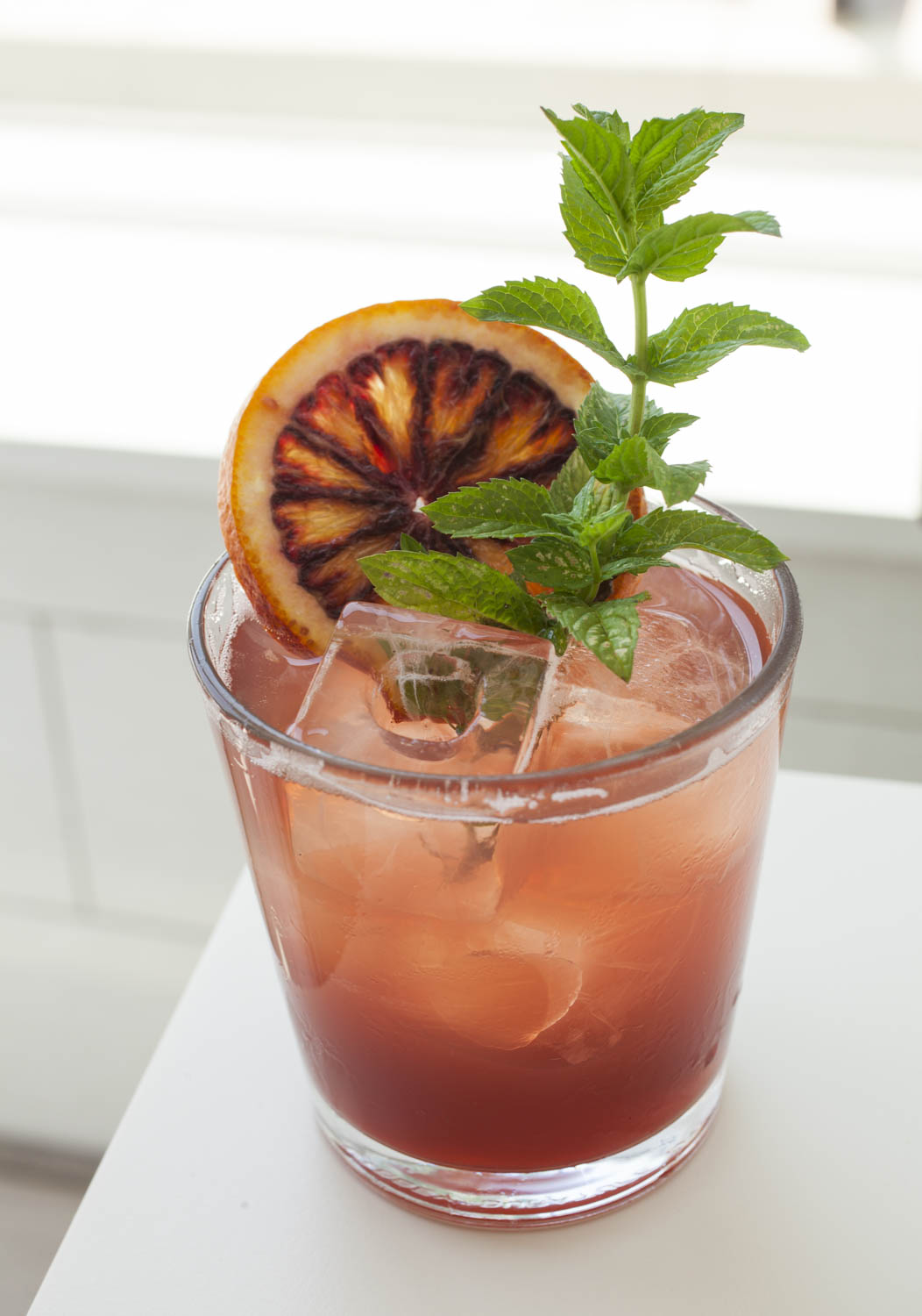 Washingtonian - 1.5oz Capitoline Rosé1.25oz Capitoline TiberPour over ice and seltzer. Garnish with orange and mint.
