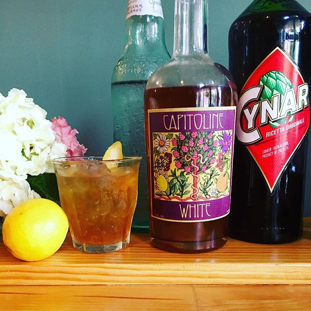 "Who doesn't love a #bonanza!? Our friends @greenalmondpantry are throwing one of the very best kind, with all things #artichoke. Won't you join them tomorrow Friday 5/3 and have yourself an ""Okie Dokie"" with our Capitoline White #vermouth, Cynar and sparking water! Link in @greenalmondpantry bio!"
