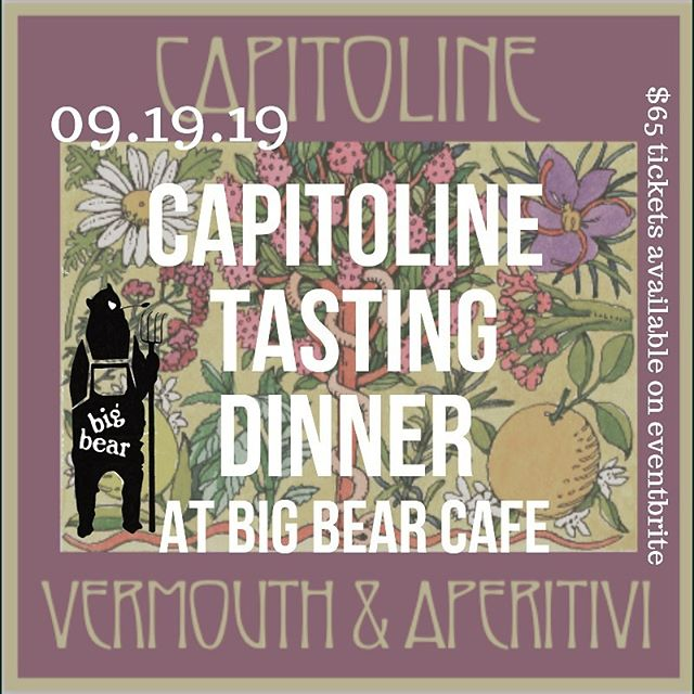 Who can resist great food and great drink in a beautiful space? There are a few seats left to the @bigbearcafe and @littledonnas dinner this Thursday evening, we hope to see you! Link in bio.