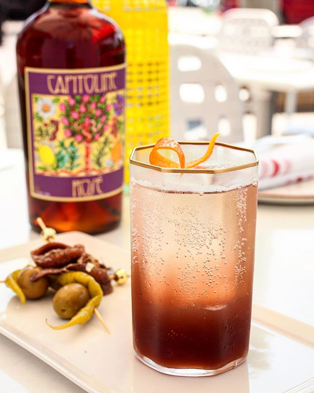 Vermouth + soda: one of life's simple pleasures.
