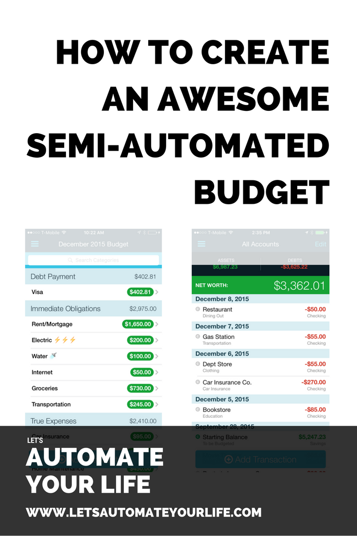 How to Create an Awesome Semi-Automated Budget
