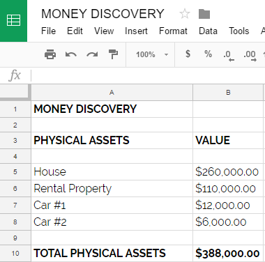 Money Discovery Physical Assets