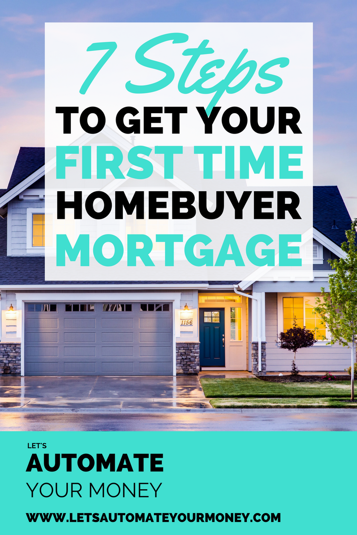 7 Steps to Get Your First Time Homebuyer Mortgage