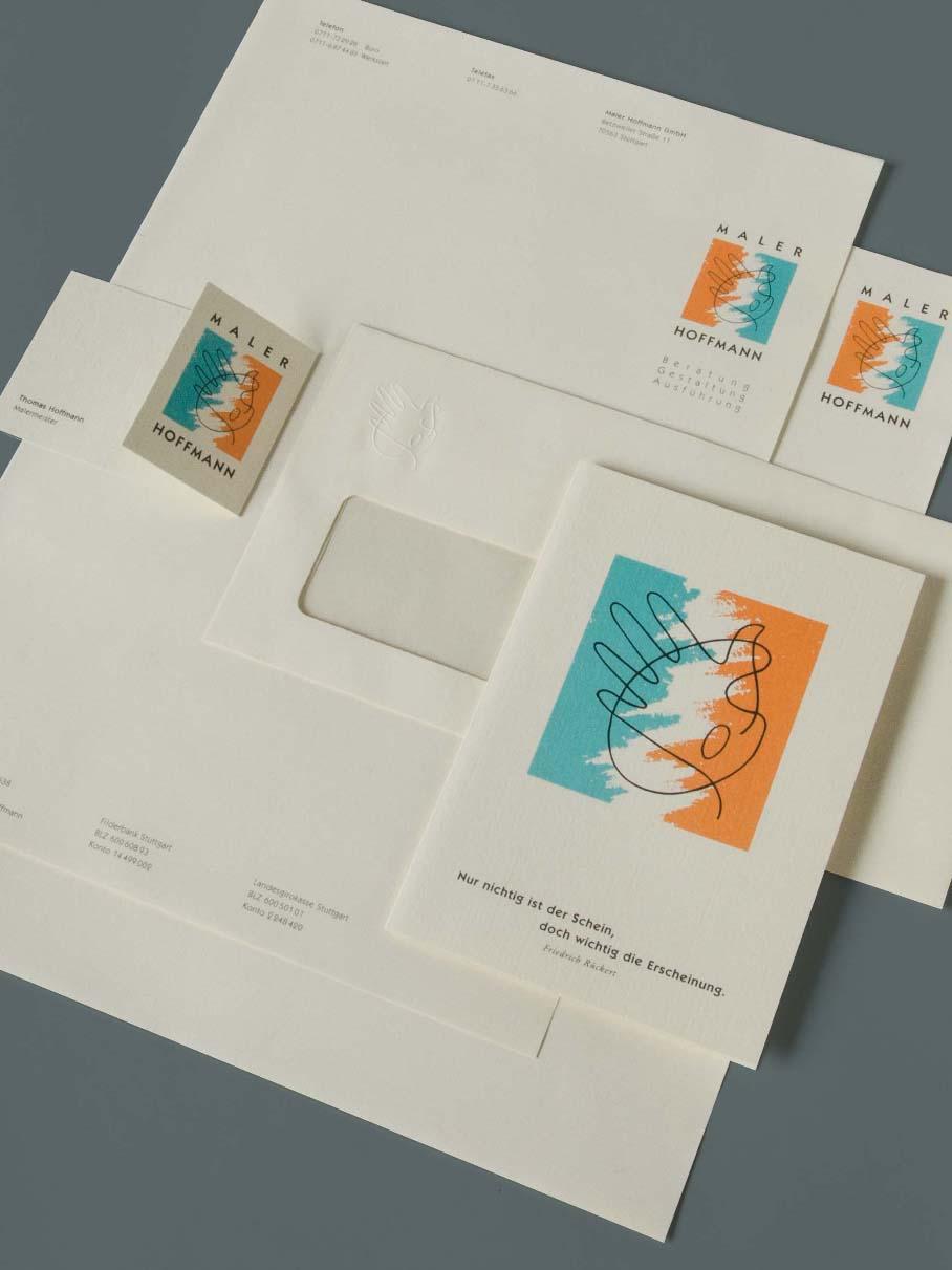 Corporate Design für Maler Hoffmann