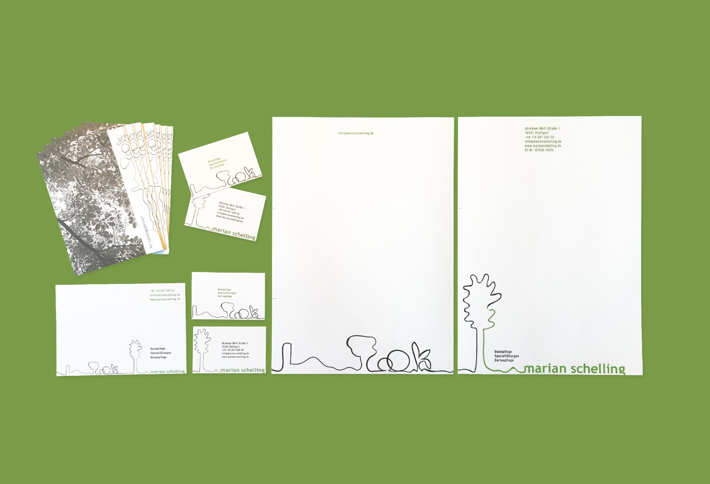Postkarten, Visitenkarten, Briefbogen