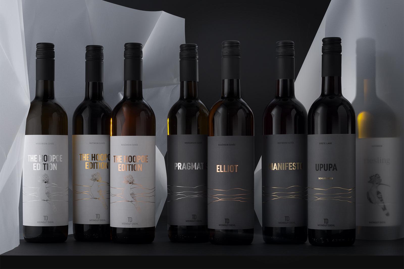 TD Signature Weine - die Cuvées - hier sind alle Linien gleich stark und alle Weine tragen einen Namen