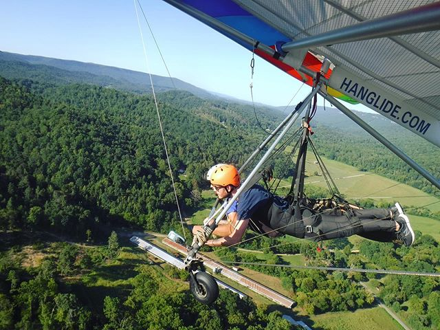 So today, I took an adventure...alone (except for the hang gliding instructor ha). And while that seems like no big deal, it is to me. You see, since I was a kid I've suffered from depression and a constant low level of anxiety, which not too many people know about. Those things have had a huge influence on how I've lived my life, and a lot of that was in fear. If I wanted to do something - anything really - go for a hike, see a movie, travel somewhere new, see a show, go out to eat, you name it - I wouldn't do it alone. If no one wanted to go, I simply wouldn't go. That has really shaped my life to this day. But, a few months ago I decided to make a change. To do the things I want when I want in my life, whether someone joins me on that ride or not. I was sick of living in fear and not going after what was going to make me happy. Here I am today, finally letting myself live the way I've wanted to for so long. Believe me when I say - drink the wine, see the band you love, eat the cake, buy the plane ticket, jump out of a plane (on my list of next adventures) - and do the journey alone if no one else wants to join. Life is too damn short and none of us get out alive, so might as well live it to the fullest...with someone else or not.