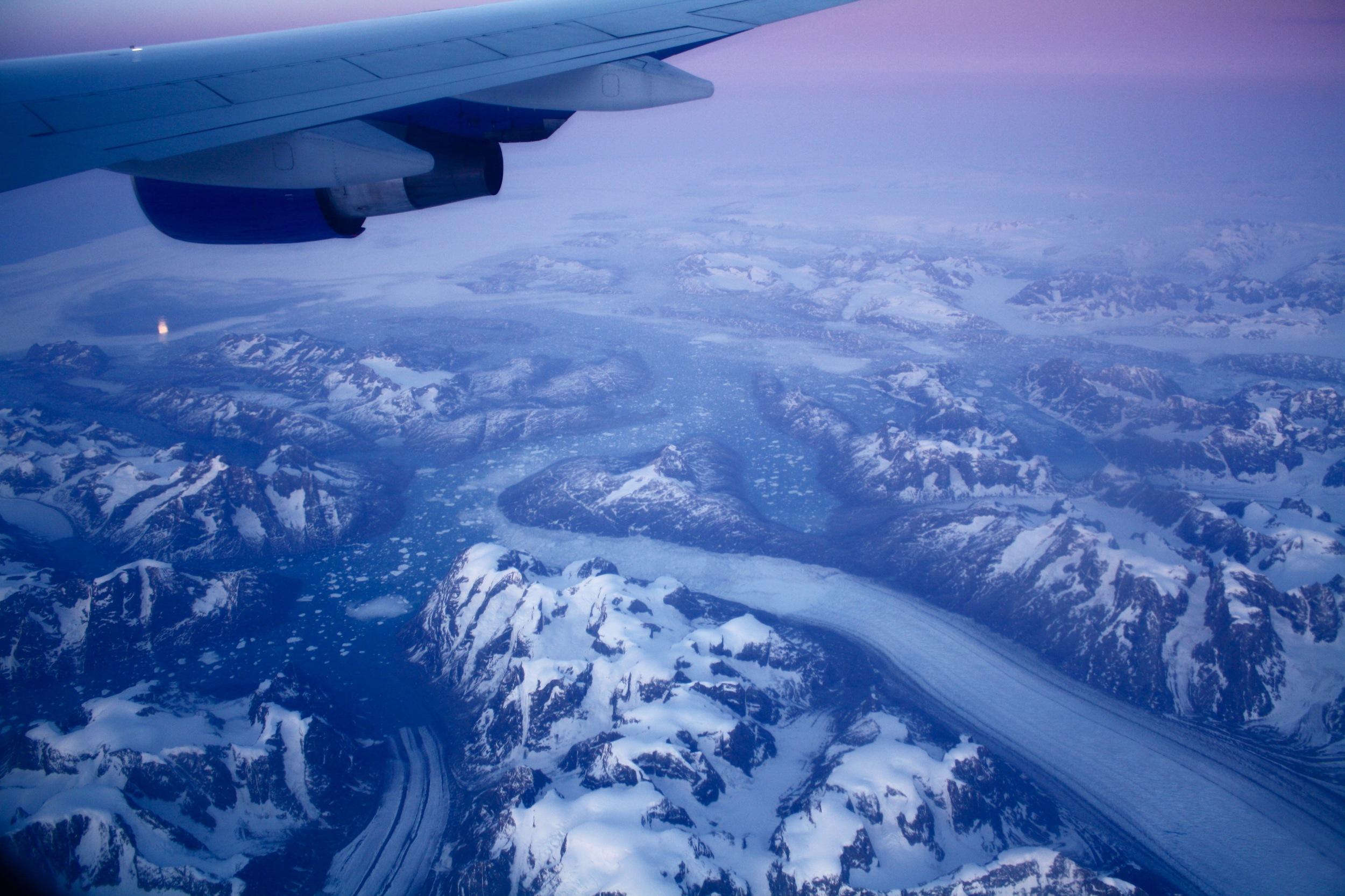Plane over Greenland