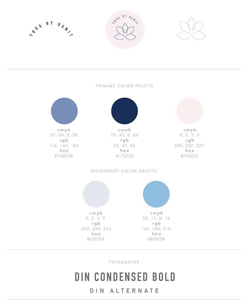 YOGA BY DANIT - BRANDING & GO LIVE IN 5™ WEB DESIGN — June