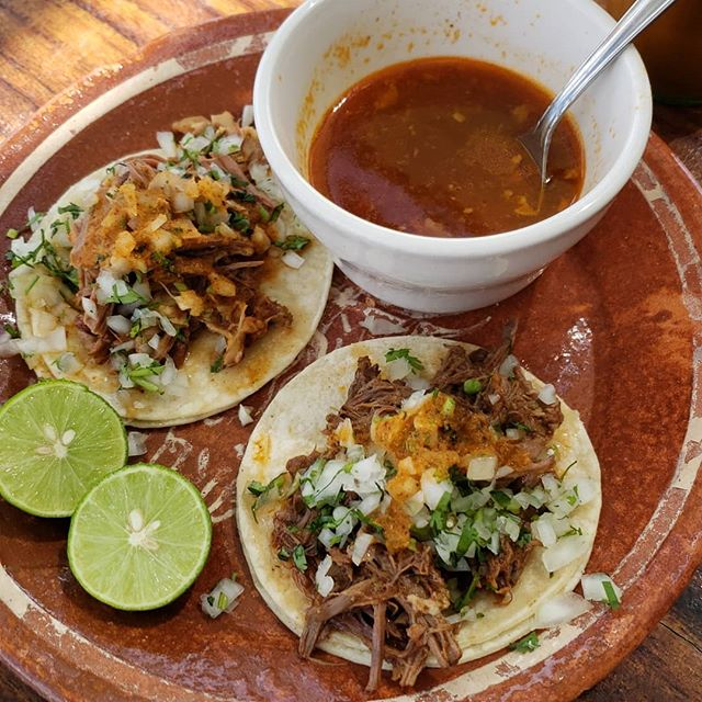 36 hours in Phoenix. Post Cholla Trail into a mini taco trail. @lamarquesabirrieria ridiculous Jalisco-style slow cooked goat skirt and shoulder tacos. Followed by a  Tacos Chiwas visit.  #tacos