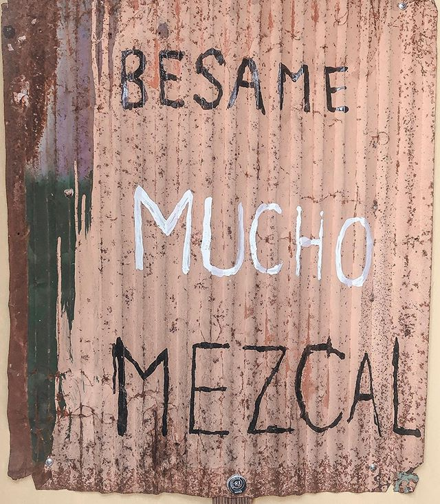 a unos les gusta su mezcal solo, a mi, contigo 💛💛 #mezcal