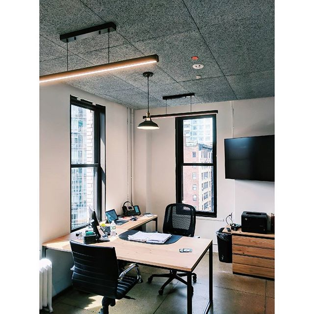 Corner views from our latest completed office project in Midtown.  #Midcentury meets cutting edge #tech. @ppi_av