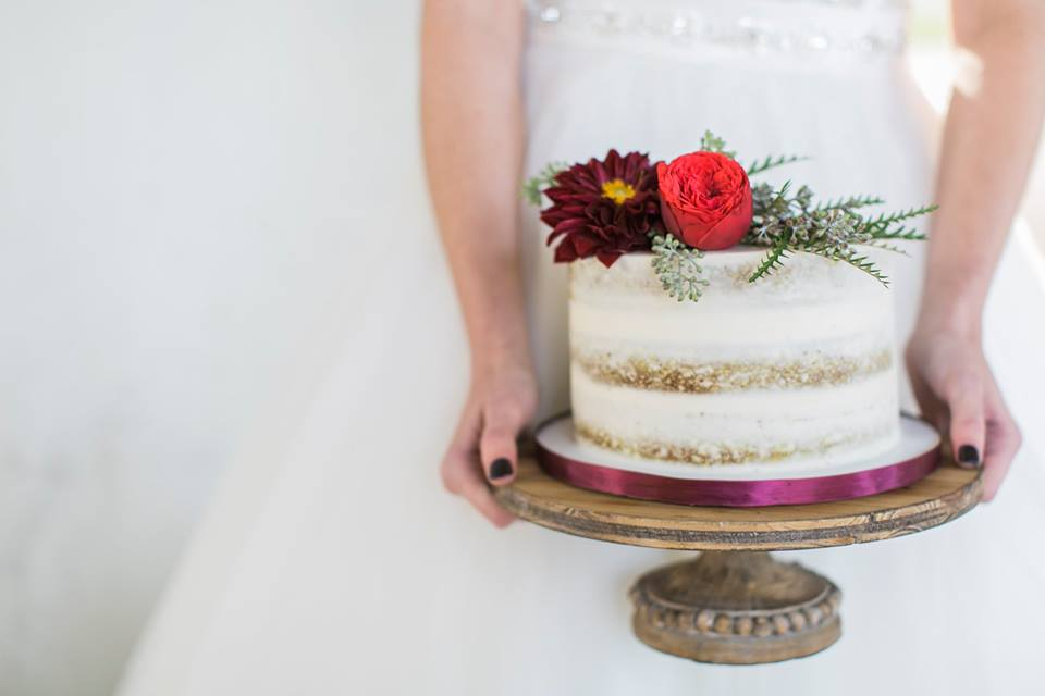 Gorgeous photography from Alex with  The Weber Photographers , floral's from  A.R. Pontius Flower Shop , cake By  Simply Sweet by Jessica . Photo from Simply Sweet by Jessica Facebook