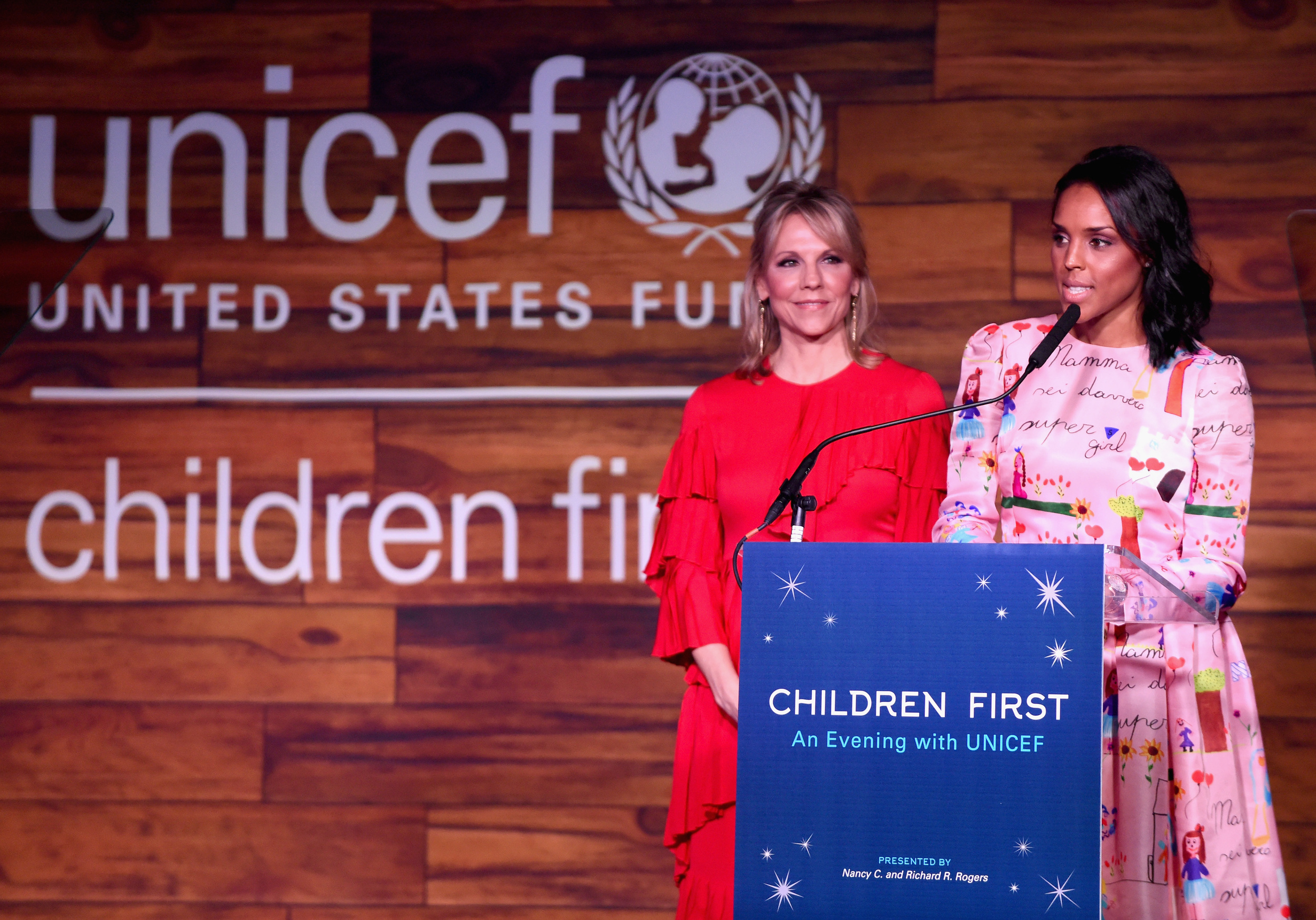 Co-Chairs Joyce Goss and Jessica Nowitzki speak at the Children First. An Evening With UNICEF on April 15, 2016 in Dallas, Texas. (Photo by Cooper Neill/Getty Images for U.S. Fund for UNICEF)