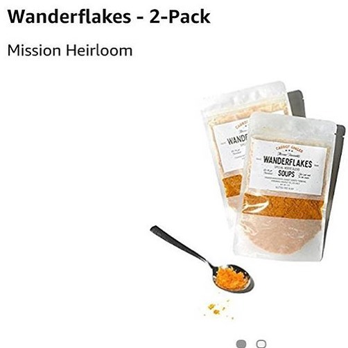 Our new wanderflakes carrot soup is now available on @amazon_fresh in Nor-cal for those that are hitting the road or simply those that have no time to cook! #missionheirloom packed food is here! #nochemicals #nofilers #nopreservatives #allreal