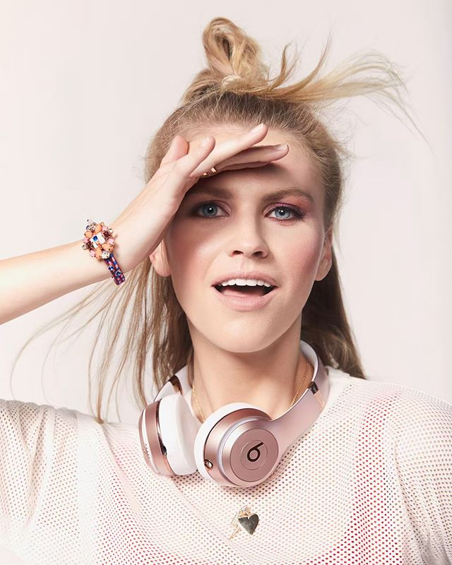 Kick in' It up with @caitlinsheyspears 💓  Wardrobe @jmeisterstyle  HMUA @nancierooneymakeup  Assistant @lorenmally . . .  #love #fashion #beats #music #summer #pink
