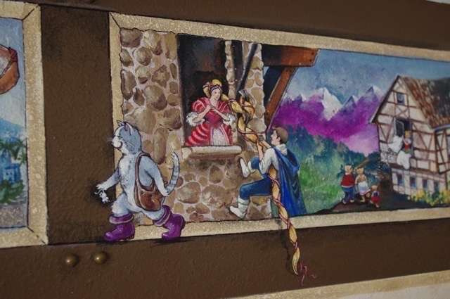 Detail of fairytale mural