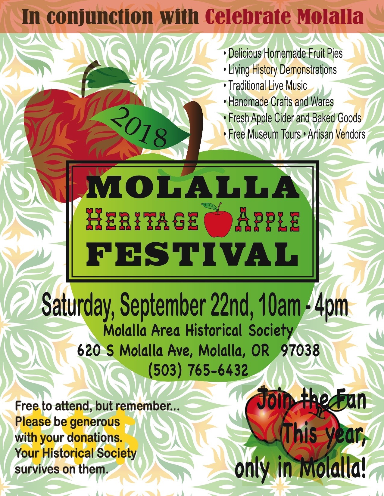 MOLALLA HERITAGE APPLE FESTIVAL!