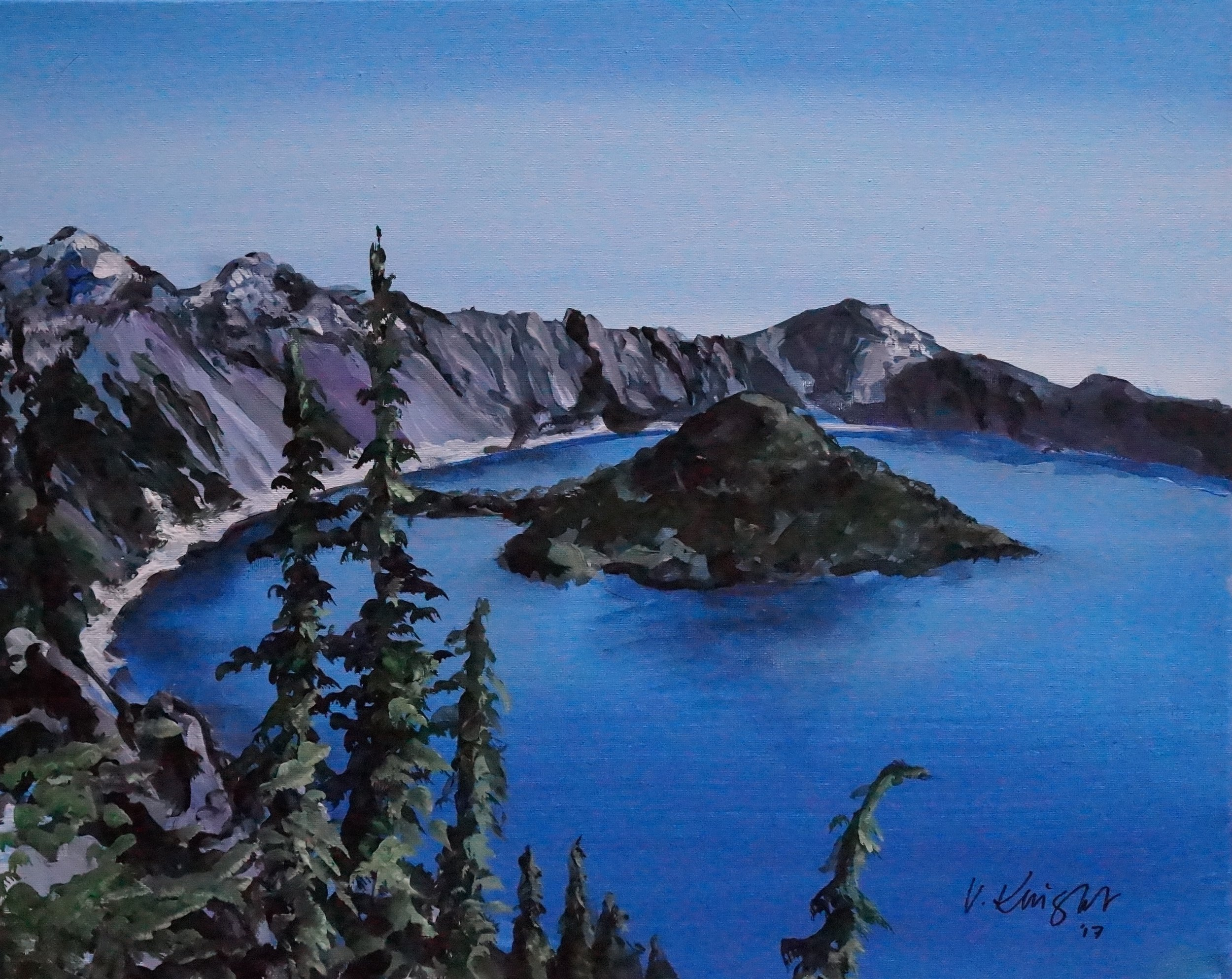 Crater Lake in the Sun