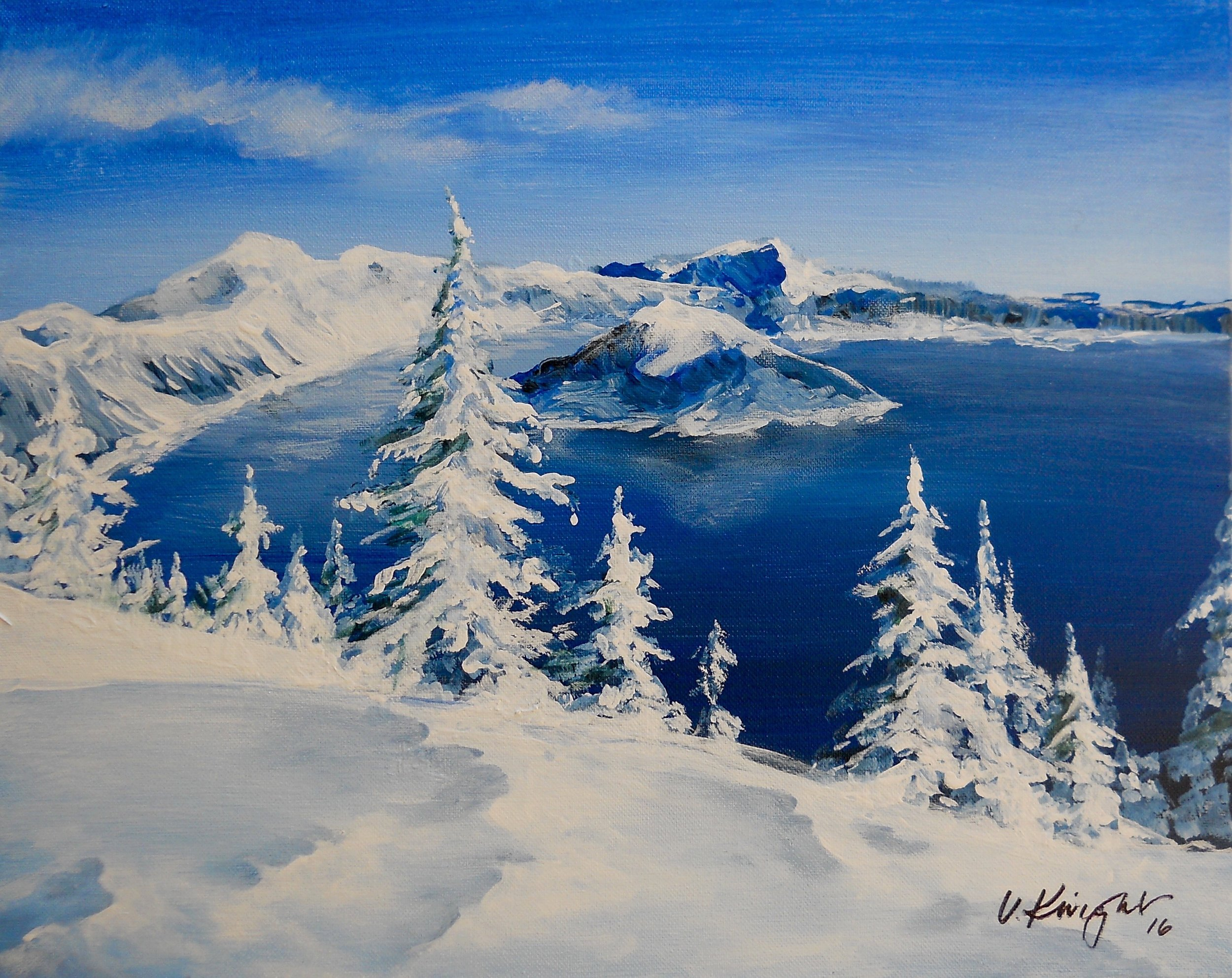 CRATER LAKE ON ICE