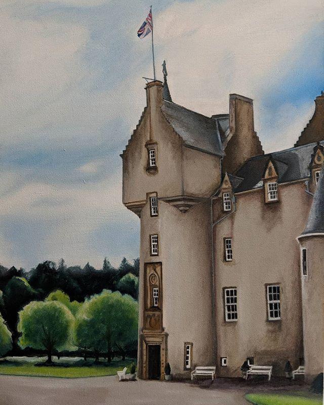 Ballindalloch Castle  #ballindallochcastle #art #oilpainting #artistinresidence