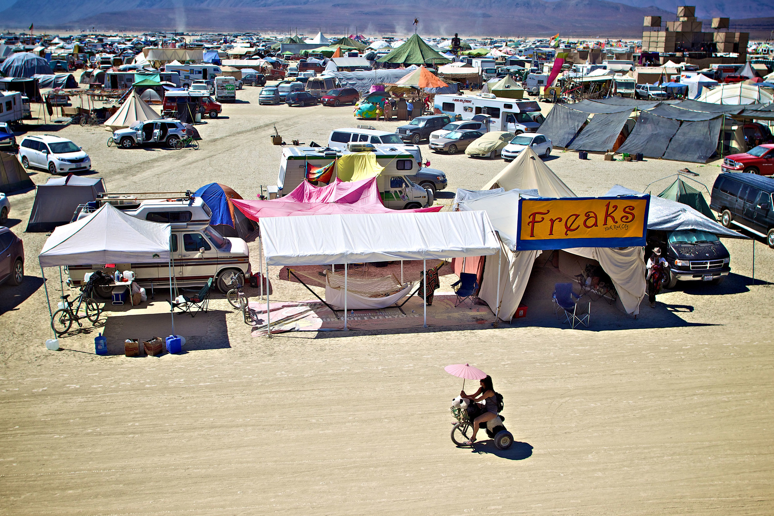A view of our camp in 2011