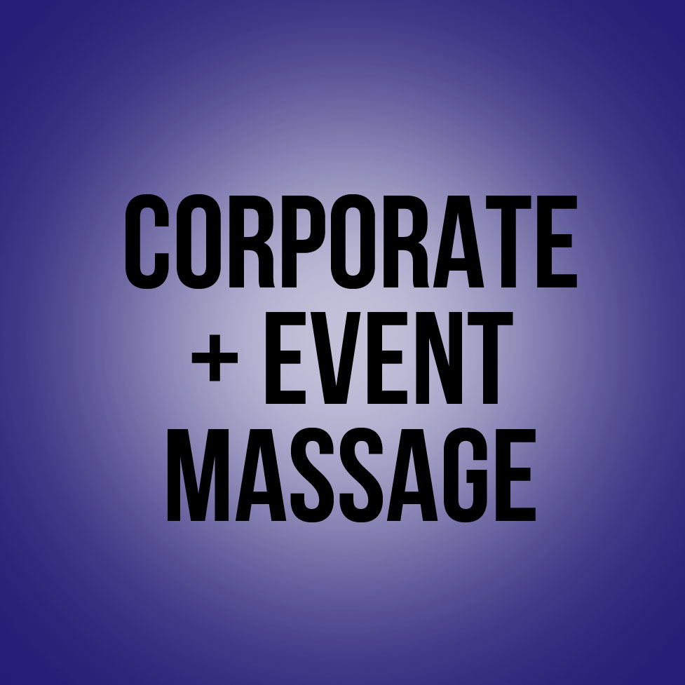 corporate and event massage