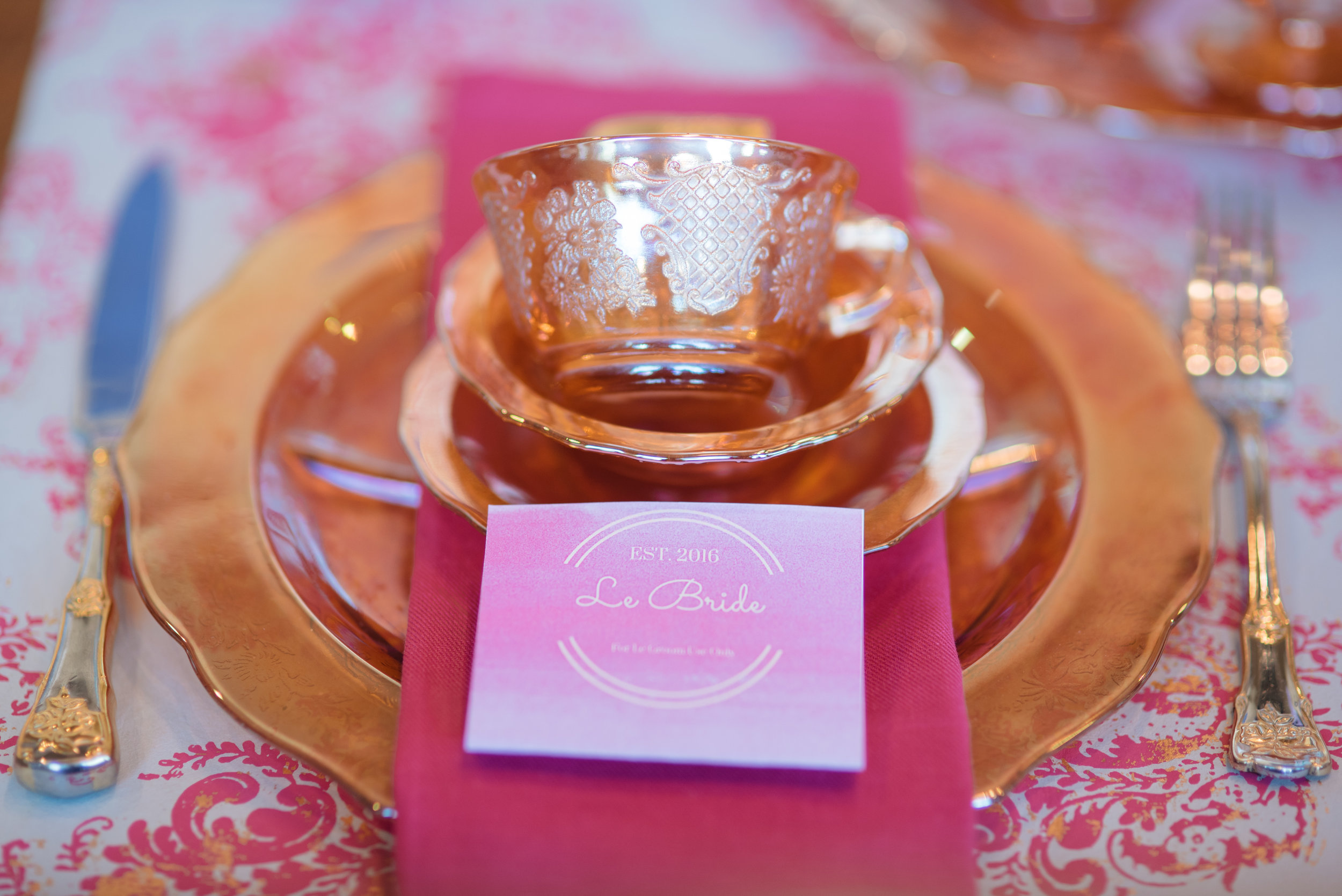 Vintage Glam Place Setting
