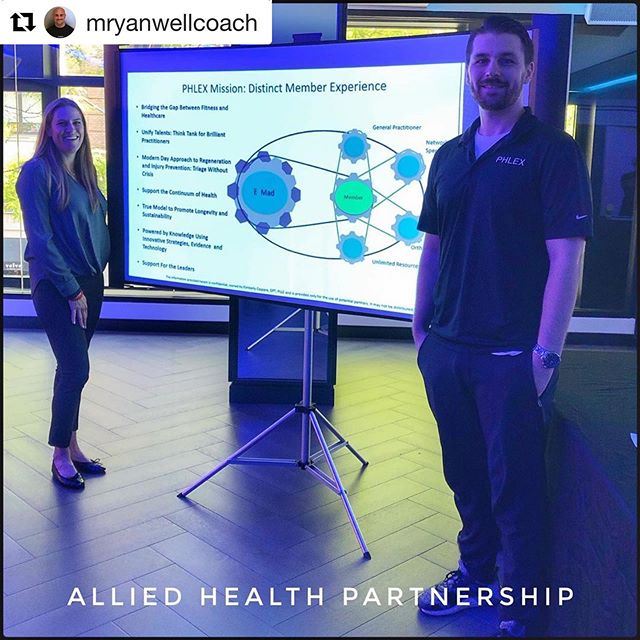 The E member experience. @equinox and @phlexnyc . Integrating fitness and wellness through clinician and coach collaboration. ・・・ #Repost @mryanwellcoach with @get_repost Thank you @kimberly_j_caspare_dpt and Connor for today and everyday!👊🏻 . #mnr #helpingushelpothers #alliedhealthpartners #fosterresilience #phlexrx