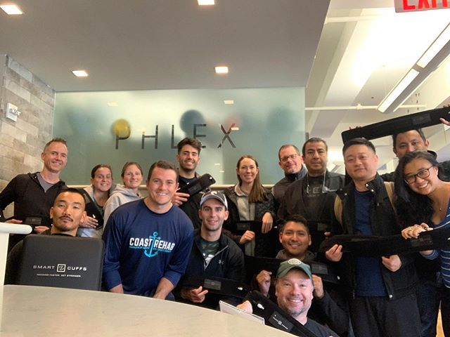 Congrats to the latest group of health and fitness professionals who completed the @smarttoolsusa #BFR course at PHLEX this weekend! We would love to hear how you implemented what you learned in your own practice! #physicaltherapy #healthandwellness #strengthandconditioning #athleticperformance #sportsperformance #alwayslearning